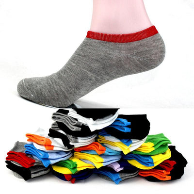 - 10 Pairs Womens Low Cut Ankle Socks Summer Short Socks Female Solid Casual Invisible Sox Chaussette For Ladies And Men -   jetcube