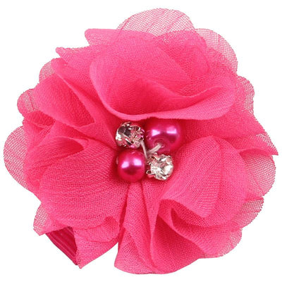 - 2.5 inch Pearl Diamond Headdress Flower Hair Accessories New Born Teens Girl Hairpin Children Fashion Elastic Hairclip Hairbow - 9  jetcube