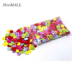 Hoomall 600PCs Mixed Acrylic Buttons 2 Holes Scrapbooking 9mm Sewing B -  jetcube 571429d924cc