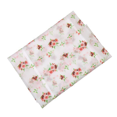- 128*54cm Waterproof Fridge Cover Dust Cover Daily necessities storage organizer Hanging bag - rose flower  jetcube