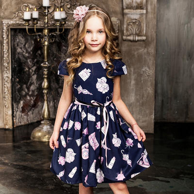 - 2-8 Years Girls Summer Dress 2017 Children Causal Dresses Toddler Girls Princess Dress For Party Kids Dresses For Girls -   jetcube