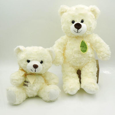 - (1 piece) 30cm Small Cute Teddy Bears Stuffed Animals Soft Plush Toys White Beige Brown Hold Bears Bow/Necklace Randomly Deliver -   jetcube