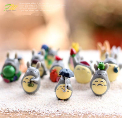 - (12pcs/lot) my neighbor Totoro figure gifts doll resin miniature figurines Toys 1-3cm PVC plactic japanese cute anime151210 -   jetcube