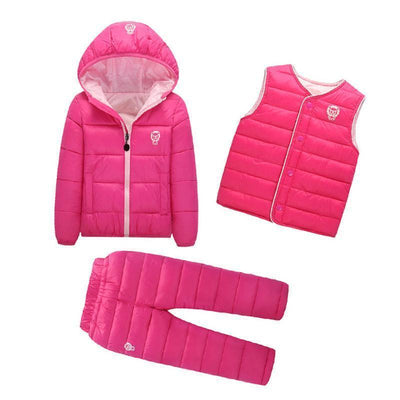 - 2-7 Years Baby Boys Girls Coats Brand 2017 Winter Boys Down Jackets Casual Snow Wear Girls Clothing Sets 3Pcs Outerwear & Coats - 2 / 24M  jetcube