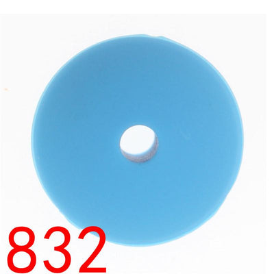 - 100pcs Flat Lentils Silicone Teething Beads Teething Necklace Abacus Silicone Bead Baby Teether Spacer Beading12*6MM JETM.HH - by020832Blue  jetcube