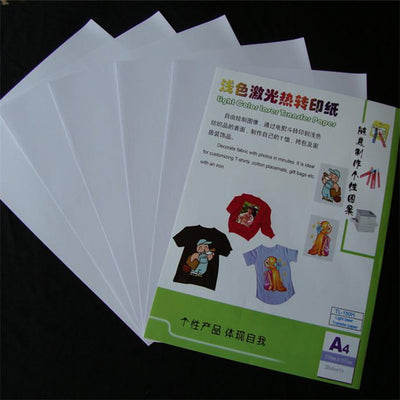 - 10 Sheets Iron On Transfer PaperFor Inkjet A4 Heat Print Transfer Paper For Light Color Fabric 297x210mm -   jetcube