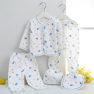 - 0-3M Newborn Infant Baby Girls boys Clothes Long-sleeved shirt,pants,hat,scarf 7pcs 5pcs Outfit Kids Clothing Set Factory cheap - 5PCS 07 / 3M  jetcube
