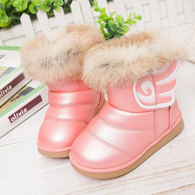 - 2016 fashion children shoes children boots snow boots girls boots cotton shoes leather - pink / 10.5  jetcube