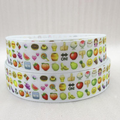 "- (5yds per roll) 1""(25mm) emoji high quality printed polyester ribbon 5 yards, DIY handmade materials, wedding gift wrap,5Yc971 - 1043873001  jetcube"