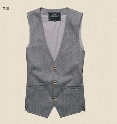 2018 Men linen cotton Vest Men Dress Suit Vest Men Cotton linen Vest Suit Gilet Vest Slim Business Jacket Tops