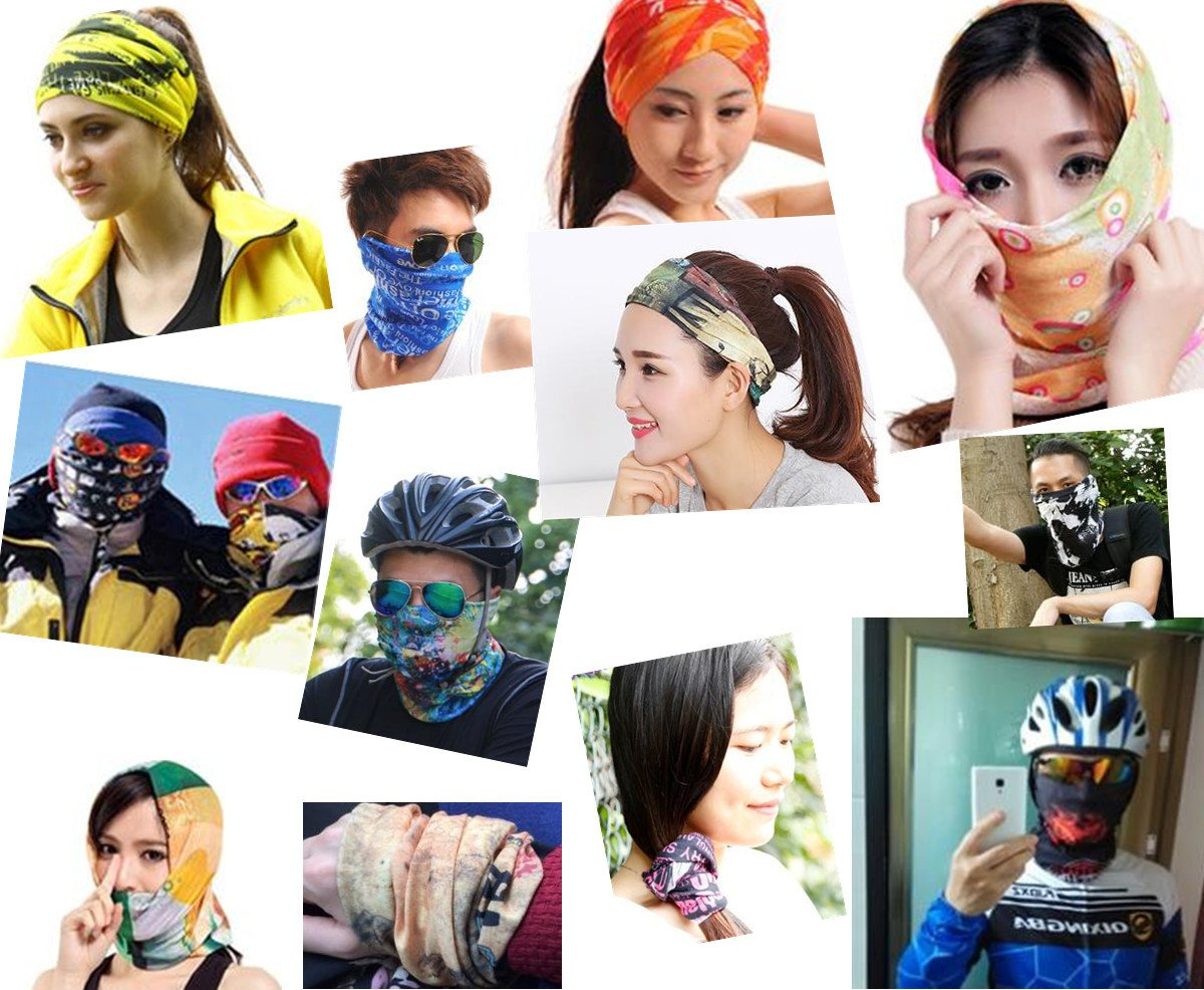 - 12pcs/lot 701-800 Wholesale Climbing Bicycle Cycling Magic Headband Sport Scarves Cycle Neck Tube Scarf Headwear Bandanas -   jetcube