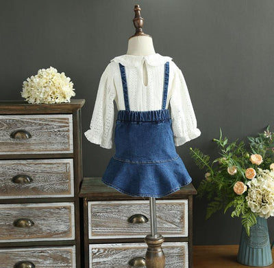 - 2-7 years Wholesale 2017 Autumn Denim Girls Skirts Baby Clothes (no blouses) -   jetcube