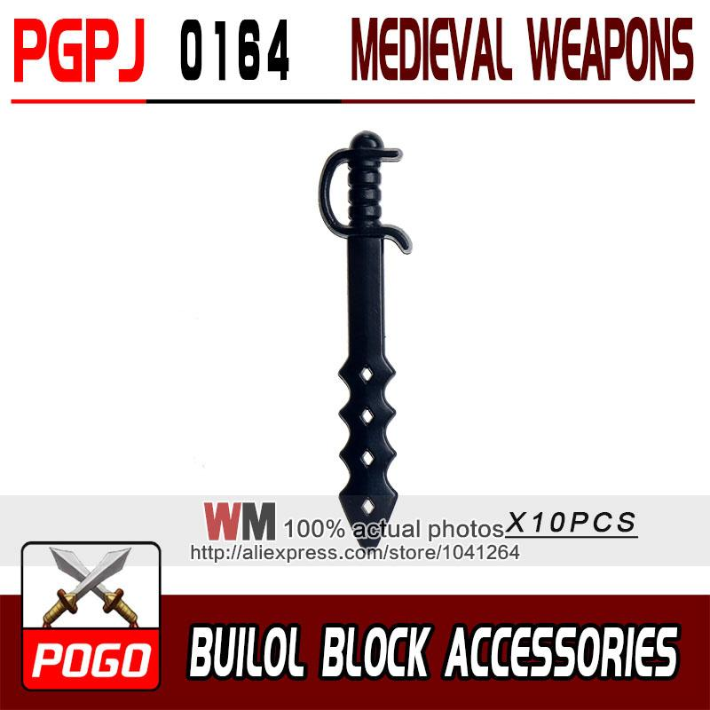 - 10pcs/lot Latest Rome Knight Weapon Sword Accessories Building Blocks Bricks Medieval Knight Weapons -   jetcube