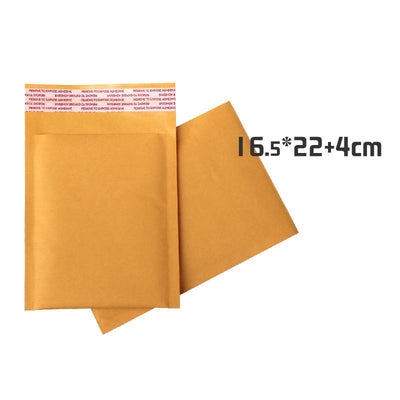 - 100pcs/lot 16.5cm*22cm+4cm Kraft Bubble Padded Envelopes Mailers Shipping Yellow Bags -   jetcube