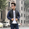 - 2016 Fashion White Goose Down Navy Blue White Stand Collar Parka Men Winter Jacket Coat -   jetcube