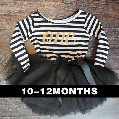 - 0-2 Years Baby Princess Girl Dress One Piece For Toddler Girl Clothing Stripe Tutu Dress Children Casual Dresses Infant Clothes - A0250HI1  jetcube