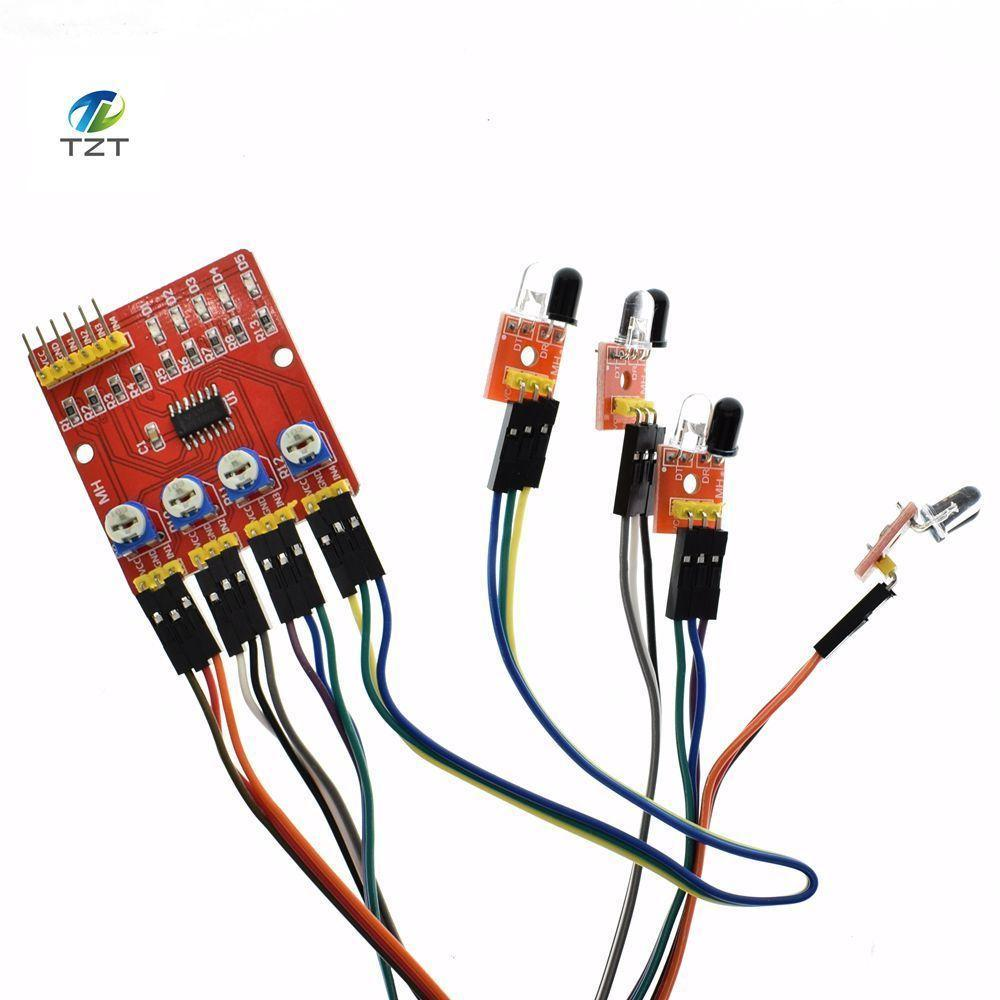 F233 01 Four Way Infrared Tracing 4 Channel Tracking Module Electrical Wiring Tracer Transmission Line