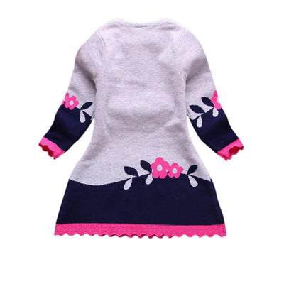 - 2-7Y Character Kid Baby Girl Autumn Winter Double-layer Long-sleeve Fox Clothes Outfit Set - Pink / 3T  jetcube