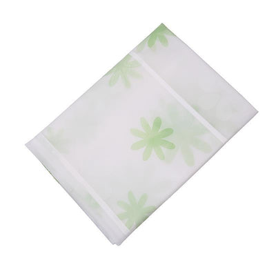 - 128*54cm Waterproof Fridge Cover Dust Cover Daily necessities storage organizer Hanging bag - green flower  jetcube
