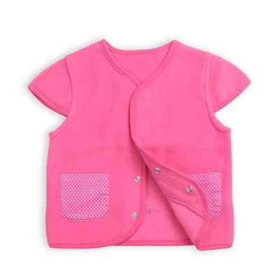- 0-3 Years-Old Baby Girls Tops Fleece Jacket Toddler Girl Fleece Coat Outerwear in Spring Autumn - Pink / 12M  jetcube
