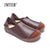 (35-42)Women's Shoes Plus Size Genuine Leather Flat Shoes Casual Slip on Loafers Ladies Moccasins Mori Girl Style (5188-1)
