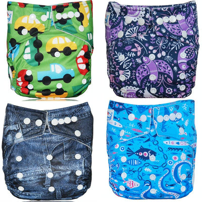 - (10pcs A Lot) BIG DISCOUNT 2017 New year Bamboo Charcoal Cloth Diapers Shells Pocket Diaper Covers - Default Title  jetcube