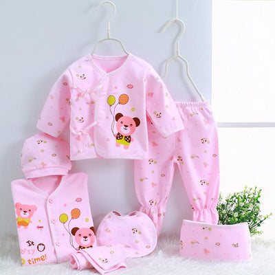 - 0-3M Newborn Infant Baby Girls boys Clothes Long-sleeved shirt,pants,hat,scarf 7pcs 5pcs Outfit Kids Clothing Set Factory cheap - 02 / 3M  jetcube
