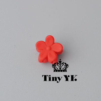 - 10 pcs New Fashion Baby Girls Small Hair Claw Cute Candy Color flower Hair Jaw Clip Children Hairpin Hair Accessories Wholesale - Red  jetcube