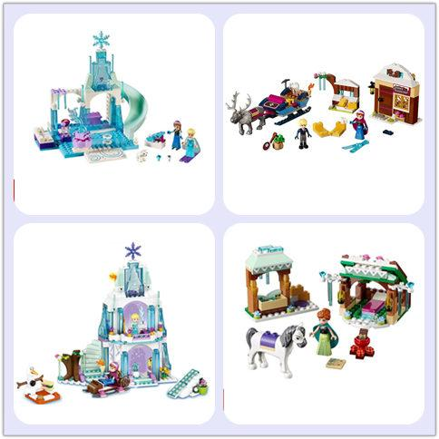 City Friend Princess Froze Elsa's Sparkling Ice Palace Anna & Elsa's Froze Playground Snow Adventure compatible with legoeds  UpCube- upcube