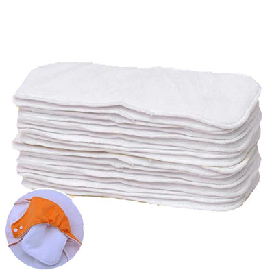 - (20pcs/lot) Washable Diaper Inserts Reusable 3 Layer Microfiber Inserts Breathable Baby Cloth Diaper Nappies Super Absorbency -   jetcube