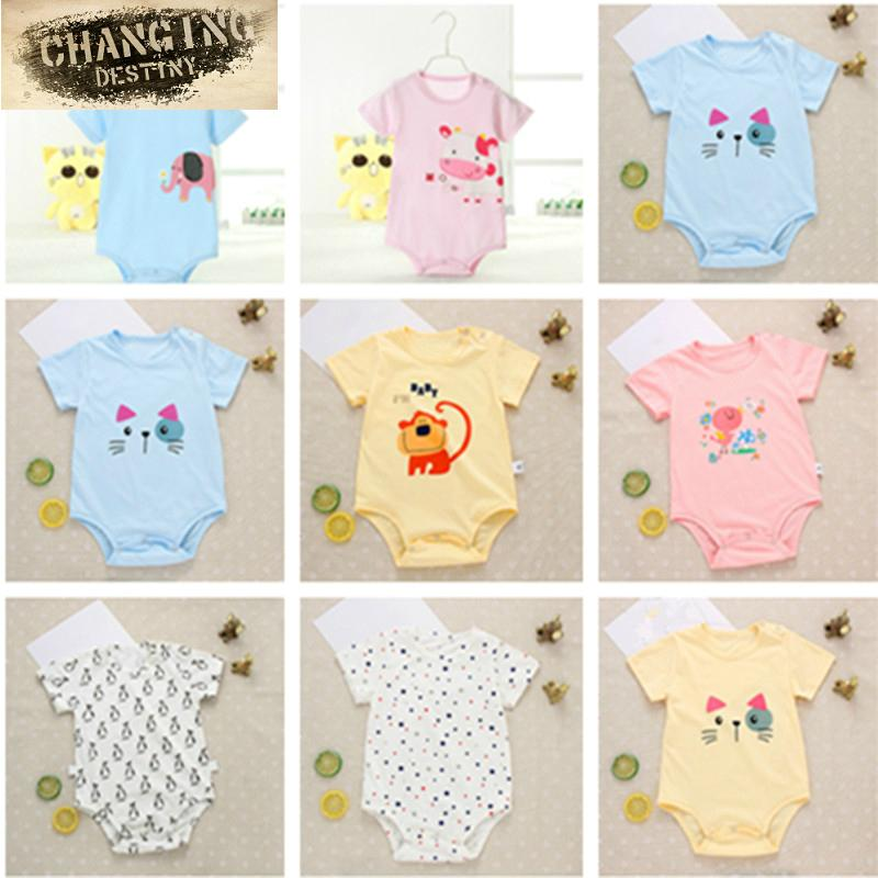 - 1 Pcs Random 0-15 Year Old Baby Rompers Newborn Baby Boy Girls Clothes Short Sleeve Baby Clothing Body Bebes Next Jumpsuit -   jetcube