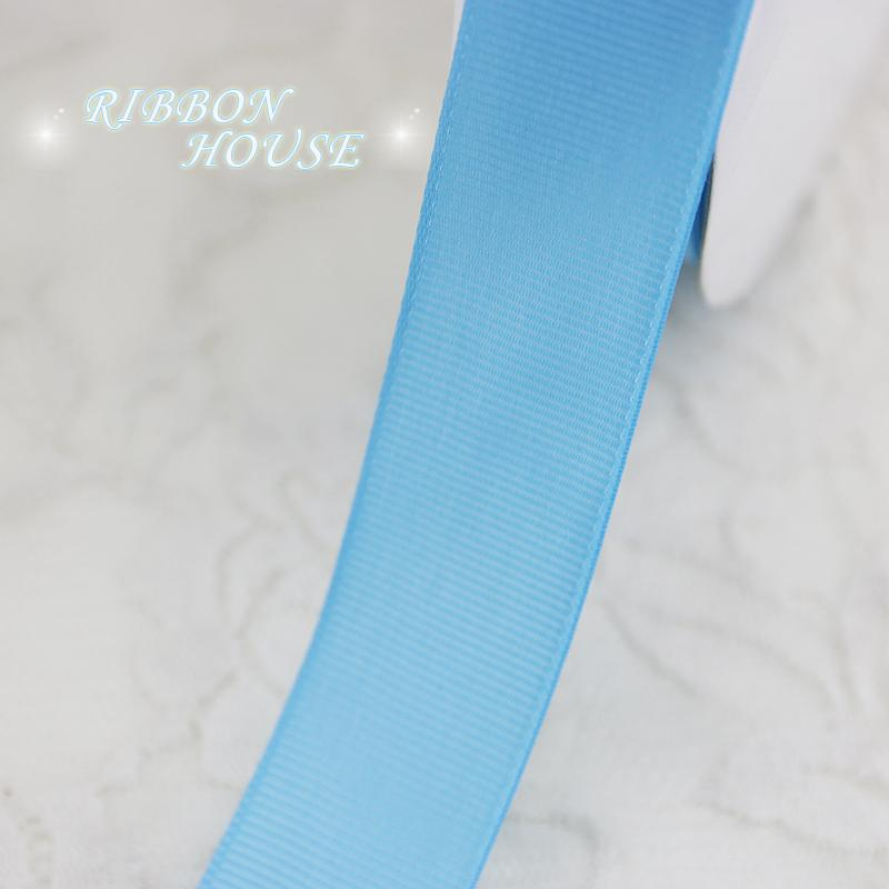 "- (5 meters/lot) 1"" (25mm) Sky Blue Grosgrain Ribbon Wholesale gift wrap Christmas decoration ribbons -   jetcube"