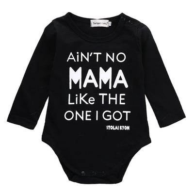 - 0-18M Newborn Infant Baby Bodysuit Toddler Boys Girls Long Sleeve Cotton Letter Print Casual Clothes -   jetcube