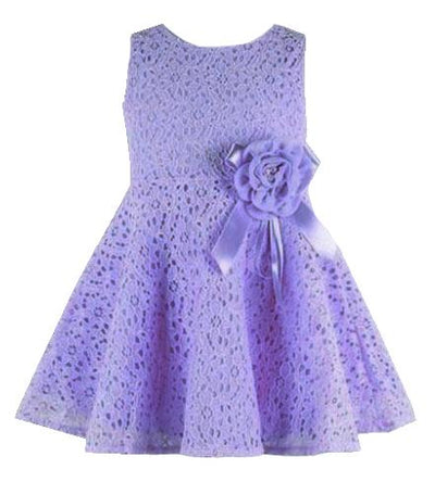 - 0-2 Years New Gift Summer Lace Vest Girls Dress Baby Girl Cotton Dress Chlidren Clothes Kids Party Clothing For Girls - Purple / 12M  jetcube