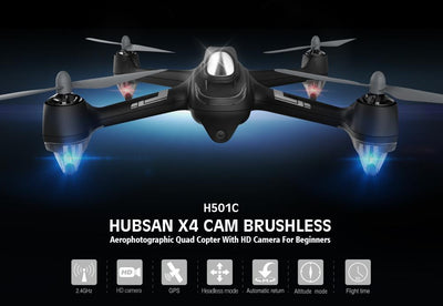 - (with two batteries) Original Hubsan X4 H501C With 1080P Camera Brushless Drone RC Quadcopter RTF 2.4GHz GPS Altitude Hold Mode -   jetcube