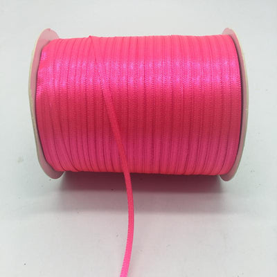 "- (20Yards/lot)1/8"" 3mm Silk Satin Ribbon Polyester Ribbon Wedding Christmas Party Decoration DIY Gift Packing - Rose  jetcube"