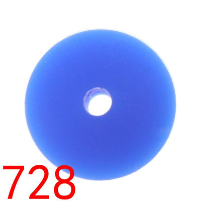 - 100pcs Flat Lentils Silicone Teething Beads Teething Necklace Abacus Silicone Bead Baby Teether Spacer Beading12*6MM JETM.HH - by020728Navy blue  jetcube