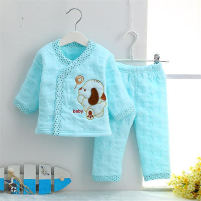 2d754abab067 Hrizip Cotton Winter Suit Baby Girl Clothing Set Animal Lovely Suit Warm  Tops Pants Infant Newborn Baby Boy Winter Clothes Sets