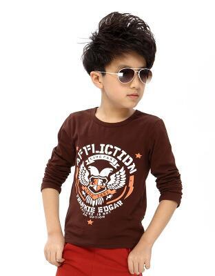 2017 autumn children's clothing boys t-shirts long sleeve cotton boy t-shirts for boys big kids causal pullovers tshirts tops  UpCube- upcube