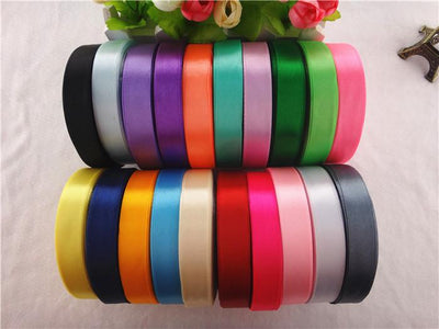- 17032103, 16mm width 20 colors 25 yards silk satin ribbon , wedding decorative ribbons, gift wrap, DIY handmade materials -   jetcube