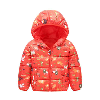 - 2-6 Years Dinosaur Pattern Girls Boys Coats 2017 Outerwear & Coats Fashion Boys Parkas Kids Clothes Warm Down Coats for Boys - 1 / 24M  jetcube