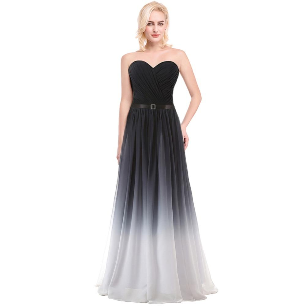 ruthshen Gradient Prom Dresses Cheap 2018 Pleated Ombre Chiffon ...