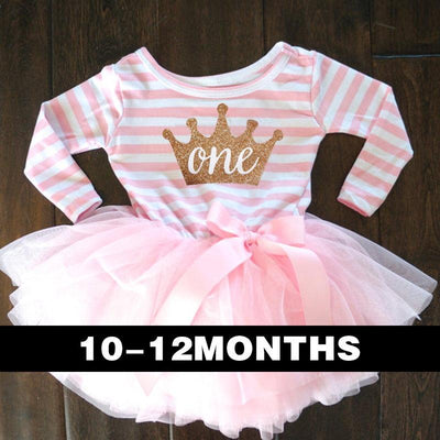 - 0-2 Years Baby Princess Girl Dress One Piece For Toddler Girl Clothing Stripe Tutu Dress Children Casual Dresses Infant Clothes - F1  jetcube