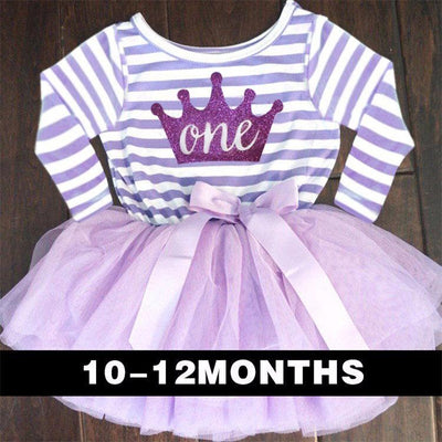 - 0-2 Years Baby Princess Girl Dress One Piece For Toddler Girl Clothing Stripe Tutu Dress Children Casual Dresses Infant Clothes - Z1  jetcube