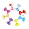 - 10 Pcs/ Lot Kids Mini Bow Whole Wrapped Safety Hair Clips Cute Solid Dot Stripe Printing Hairpins For Girls 731 - 4  jetcube