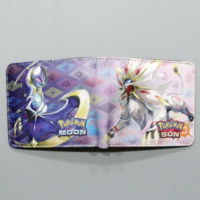 Anime Games Pokemon Sun Moon Cartoon Wallets Short Bifold Dollars Photo Coin Bolso Zipper Slot Men Woman Purse Boys Girls Gifts  UpCube- upcube
