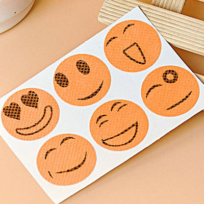 - 10 Packs Cute Mosquito Repellent Patch Smiling Face Type Drive Midge Mosquito Killer Anti Mosquito Repeller Sticker -   jetcube