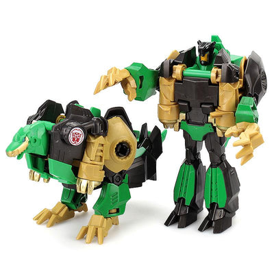 - 12CM Mini Pocket Funny Transformation Toys Deformation Cars Animals Robots Model Bumble Bee / Dinosaur Children Toys - E  jetcube