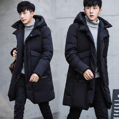 - -30 Degree Temperature 2017 Long Thick Warm Casual Winter Jacket Men -   jetcube