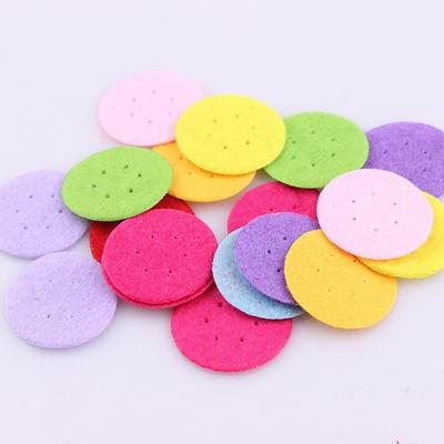 - 100 PCS DIY 20/25/30mm Mix Color Round Felt fabric Pads Accessory Patches Circle Felt Pads Fabric Flower Accessories - 20MM with hole  jetcube